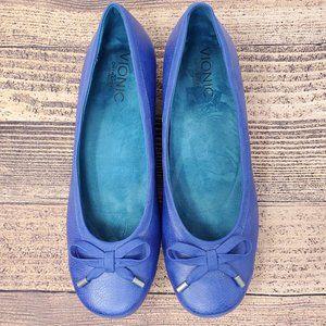 Vionic Olivia Ballet Flats Size 9.5 Solid Blue